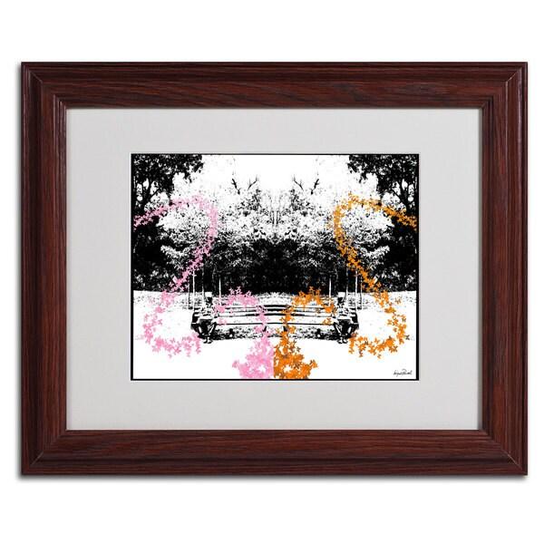 Miguel Paredes 'Pink, Orange Butterflies' Framed Matted Art 11350809