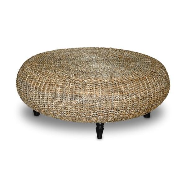 Decorative Tan Transitional Riau Round Coffee Table