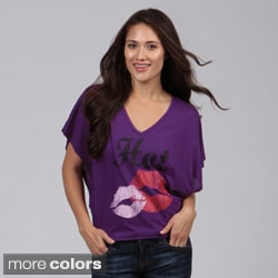 Planet Gold Juniors Butterfly Sleeve Top