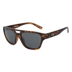 Anarchy Men's Swindler Tortoise/Polarized Grey Aviator Sunglasses