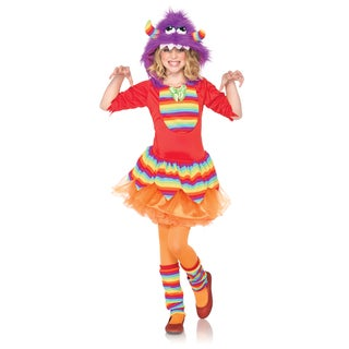 Leg Avenue Girls 2-piece Rainbow Monster Dress