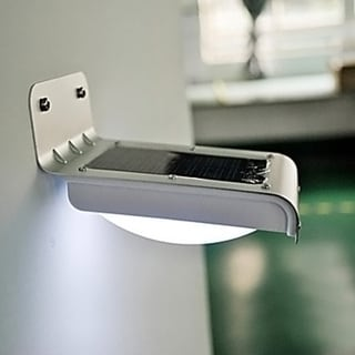 Outdoor Stainless Steel Solar-Powered 16-LED Wall Mounted Light (Set of 4)