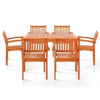 7-piece Wood Dining Set