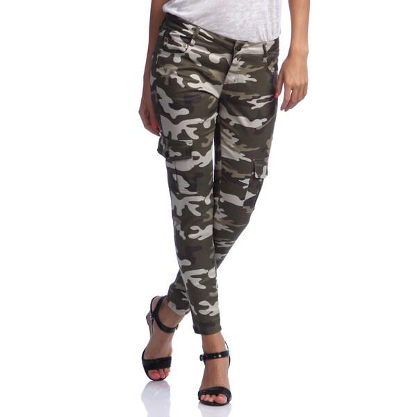 Hybrid Juniors Camo Print Skinny Cargo Pants - 15480647 ...