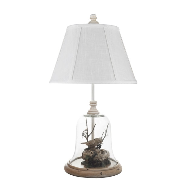 Somette Birds in Glass Cloche Table Lamp
