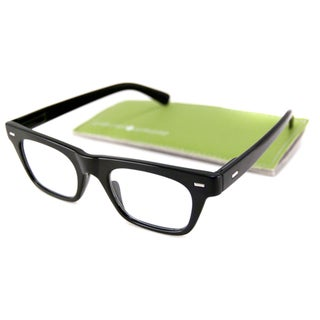 Gabriel + Simone Readers Men's/ Unisex Lyon Rectangular Black Reading Glasses