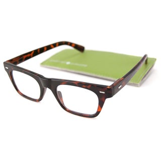 Gabriel + Simone Readers Men's/ Unisex Lyon Rectangular Reading Glasses with Metal Temple Accents