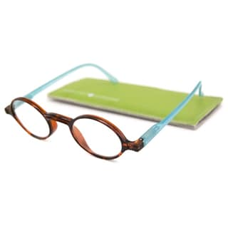 Gabriel + Simone Readers Men's/Unisex Rond Round Tortoise-and-Blue Reading Glasses