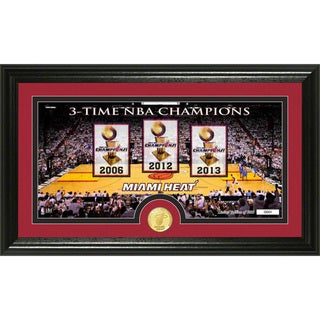 Miami Heat 'Traditions' Bronze Coin Panoramic Photo Mint