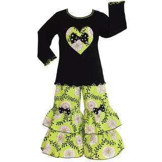 AnnLoren Girls Boutique Flowering Vine Outfit
