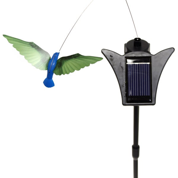 Solar Powered Dancing Blue Body Hummingbird