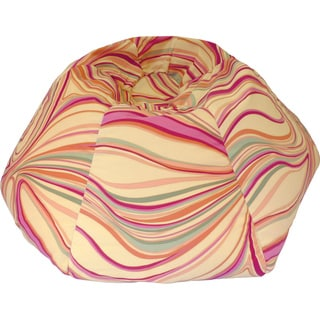 Medium Child's Suede Lemon Swirl Print Bean Bag