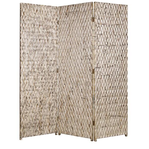 Handmade Sterling 3-panel Wood Screen (China) 11352208