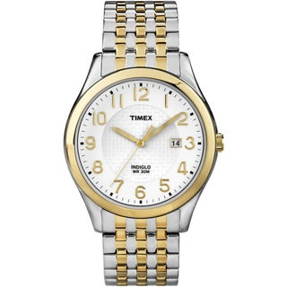 Timex Men's 'Elevated Classics' Dress Two-tone Expansion Band Watch