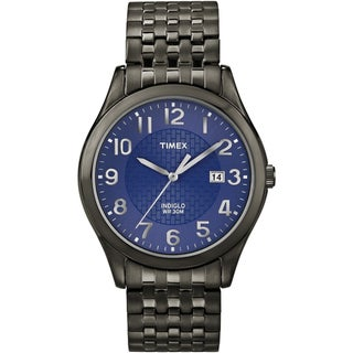 Timex Men's 'Elevated Classics' Black Expansion Band Watch