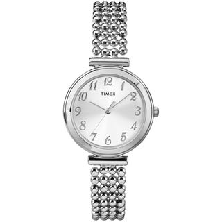 Timex Women's Elevated Classics Silvertone Dress Watch