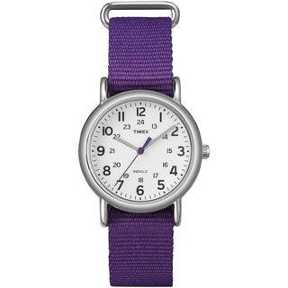 Timex Women's 'Weekender' Purple Slip-Thru Nylon Strap Watch