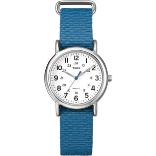 Timex Women's 'Weekender' Blue Slip-Thru Nylon Strap Watch