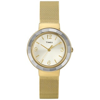 Timex Women's 'Ameritus' Goldtone Mesh Bracelet Dress Watch