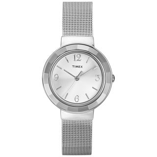 Timex Women's 'Ameritus' Silvertone Mesh Bracelet Dress Watch