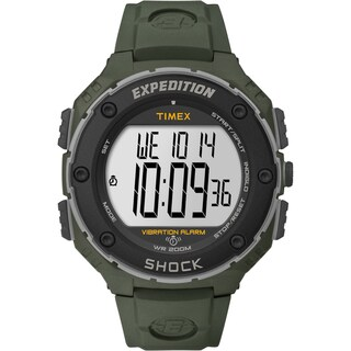 Timex Men's T49951 'Expedition Shock XL' Vibrating Alarm Green Watch