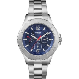 Timex Men's Fashion Retrograde Blue Dial Watch