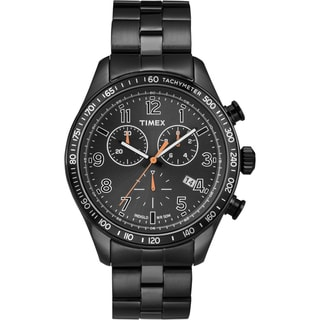 Timex Men's 'Ameritus' Black Chronograph Watch