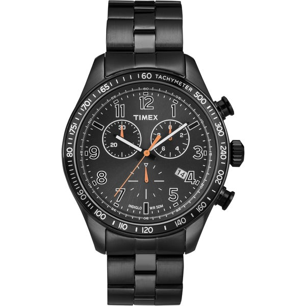 Timex T2P183KW Men's 'Ameritus' Black Chronograph Watch