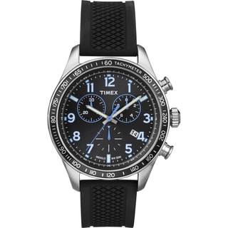 Timex Men's 'Ameritus' Chronograph Black Silicone Strap Watch