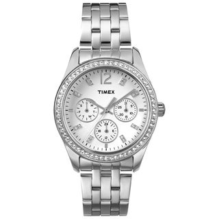 Timex Women's Fashion Multifunction Crystal-accented Dress Watch