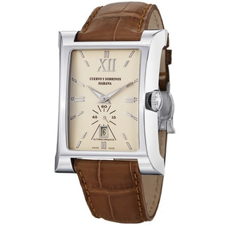 Cuervo Y Sobrinos Men's 2415.1CGL 'Esplendidos Pequenos' Light Brown Strap Watch