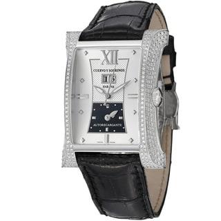 Cuervo Y Sobrinos Men's 2451.1NAL-SP 'Esplendidos DT' Silver Dial Diamond Watch