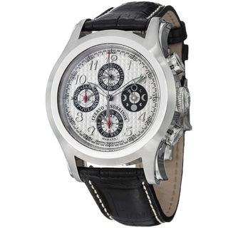 Cuervo Y Sobrinos Men's 2859.1A 'Robusto Chrono' Silver Dial Moon Phase Watch