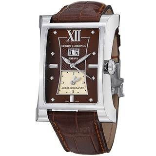 Cuervo Y Sobrinos Men's 2451.1CT 'Esplendidos DT' Brown Dial Dual Time Watch