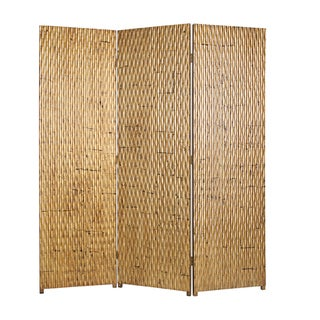 Gilded 4-panel Wood Screen (China)