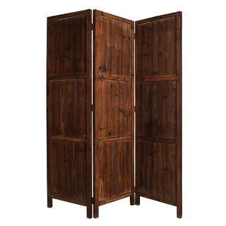 Ponderosa 3-panel Solid Wood Screen (China)