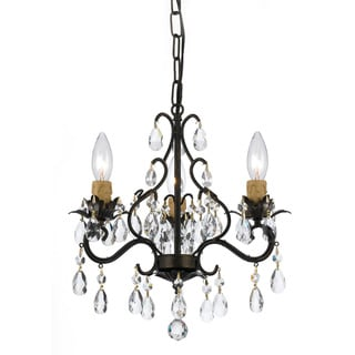 Crystal 3-Light English Bronze Mini Chandelier