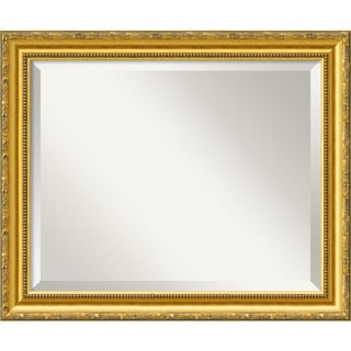 Colonial Embossed Gold 23 x 19 Medium Wall Mirror