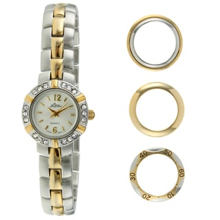Pierre Jacquard Women's Two-tone Stainless Steel Interchangable Bezel Watch