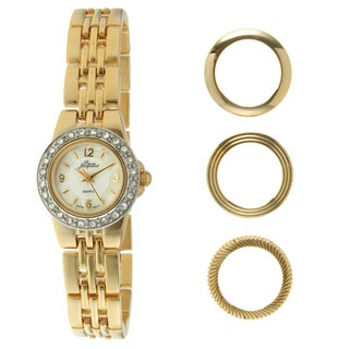 Pierre Jacquard Women's Goldone Interchangable Bezel Watch