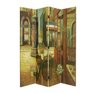 French Quarter 4-panel Canvas Screen