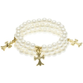 Pearlized Bead Bracelets with Charm (Set of 3) (India)