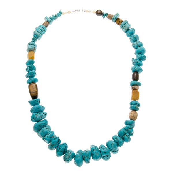 Turquoise Magnesite Bead Necklace