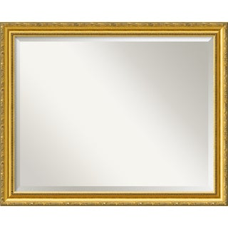 Large Colonial Embossed Gold Framed Mirror