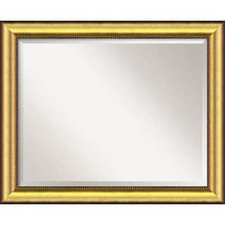 Large Vegas Burnished Gold Framed Mirror