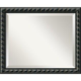 Pequot Black 23 x 19 Medium Wall Mirror