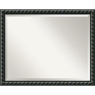 Large Pequot Black Framed Mirror
