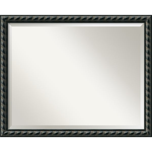 Large Pequot Black Framed Mirror
