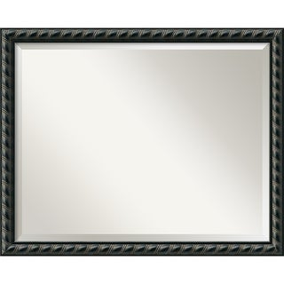 Pequot Black Large Wall Mirror