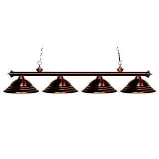 Riviera 4-light Antique Copper Billiard Pendant